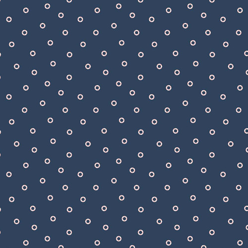 Figo Sunkissed Rings in Navy Quilting Cotton