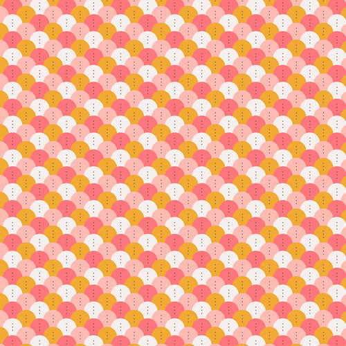Figo Sunkissed Scallops in Pink Quilting Cotton