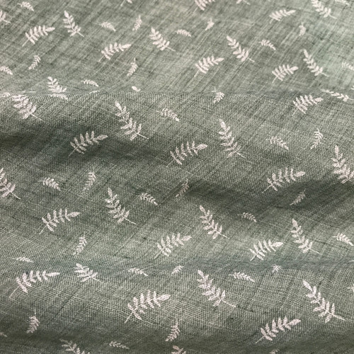 Embossed Fern Cotton Blend in Sage Green Dressmaking Fabric