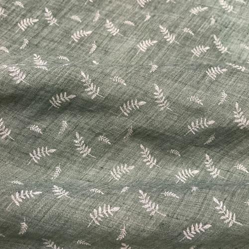 Embossed Fern Cotton Blend in Sage Green Dressmaking Fabric