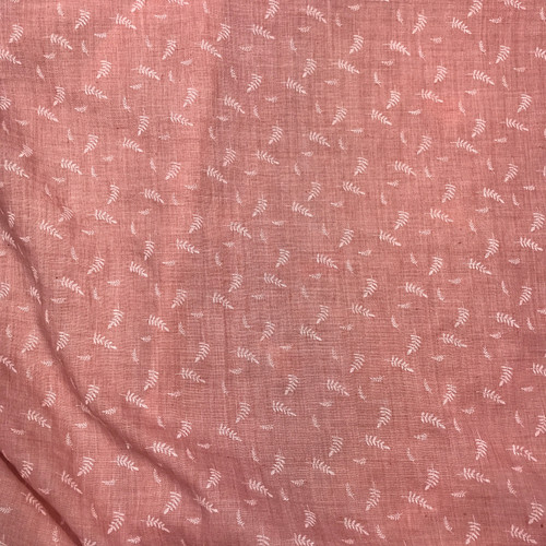 Embossed Fern Cotton Blend in Dusty Pink Dressmaking Fabric