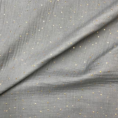 Golden Spec Double Gauze Cotton in Grey