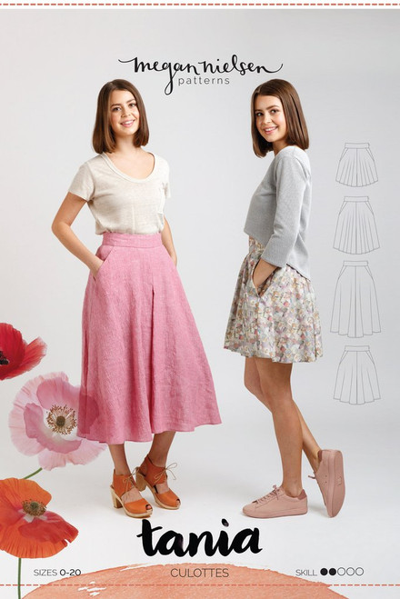 Tania Culottes Sewing Pattern by Megan Nielsen