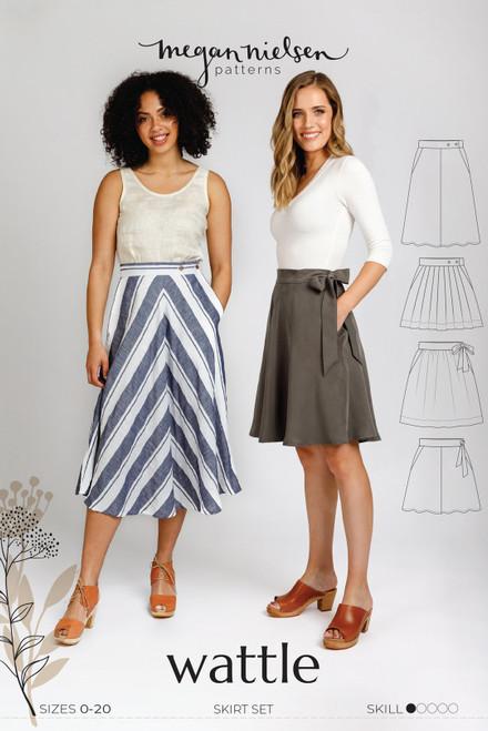 Wattle Skirt Sewing  Pattern by Megan Nielsen