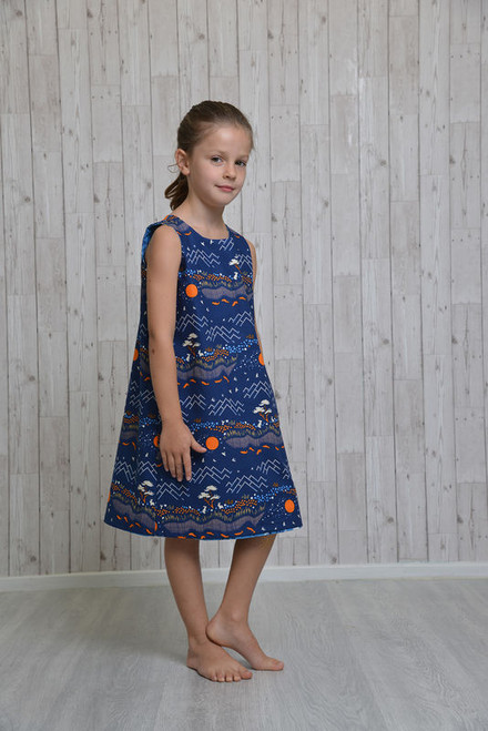 Girl's Reversible Dress Pattern by Emporia Patterns