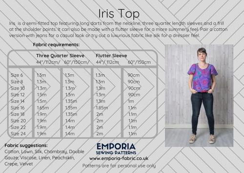 Iris Top Pattern by Emporia Patterns