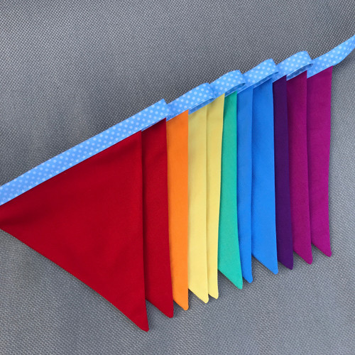 FREE Rainbow Bunting Project
