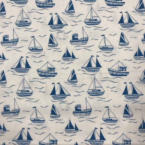 Thalassophile by Lewis & Irene - Boats in Cream