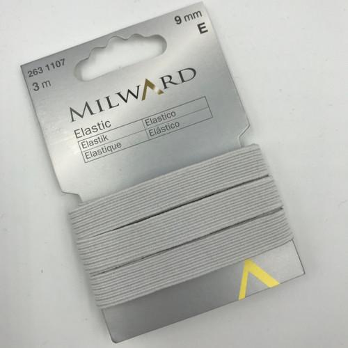 Elastic - 0.9 cm wide - 3 metre packet - White