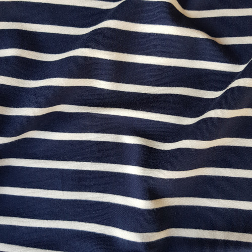 Breton stripe French terry jersey