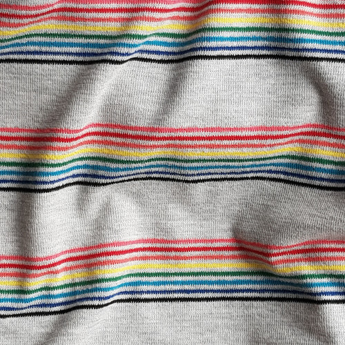 Rainbow stripe jersey knit