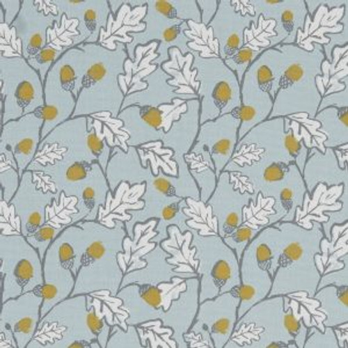 Oilcloth - Acorn Trail in Duckegg BLue
