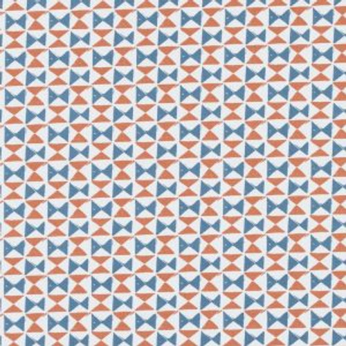 Oilcloth - Orianna in Denim and Spice
