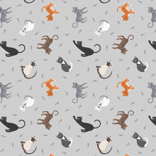 Small Things Pets by Lewis & Irene - Cats in Pale Grey