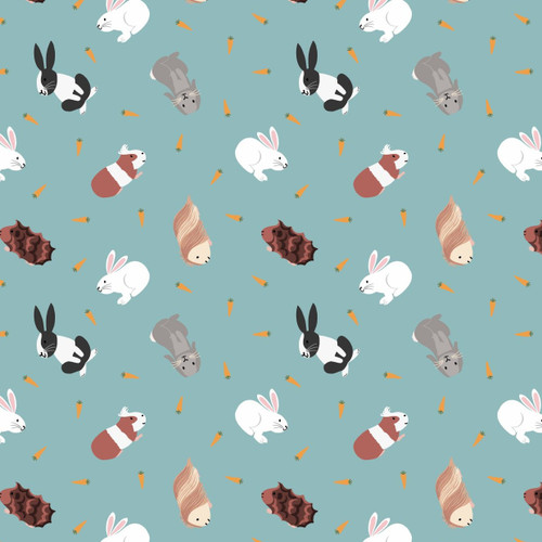 Small Things Pets by Lewis & Irene - Rabbits in Turquoise