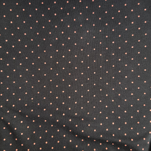 Dotty Jersey in Black/Coral