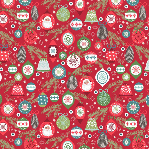 Christmas Trees by Lewis & Irene - Baubles in Red