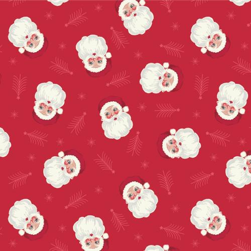 Christmas Trees by Lewis & Irene - Vintage Santa in Red