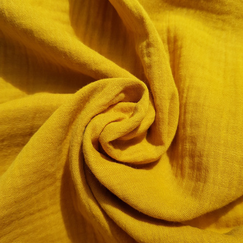 Cotton Double Gauze in Ochre