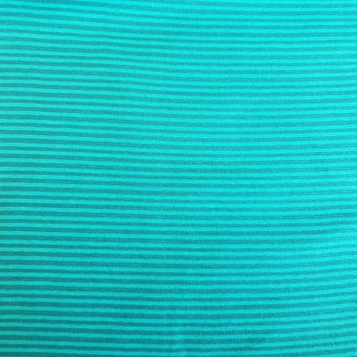 Tubular Cotton Ribbing Stripe in Teal
