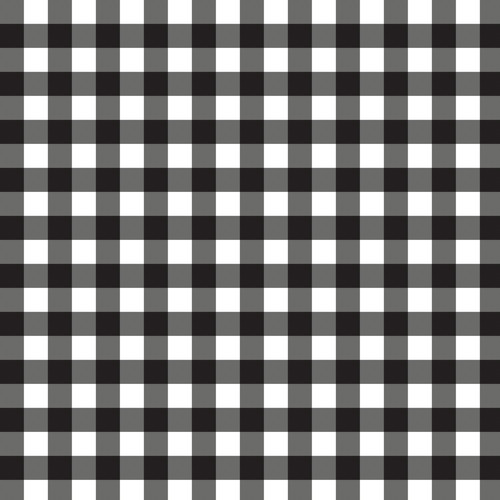 Mixology Gingham Check in Black
