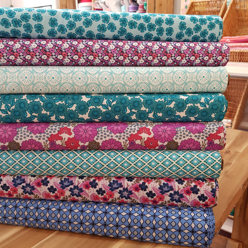 Anna Bella Days Gone By Floral in Teal
