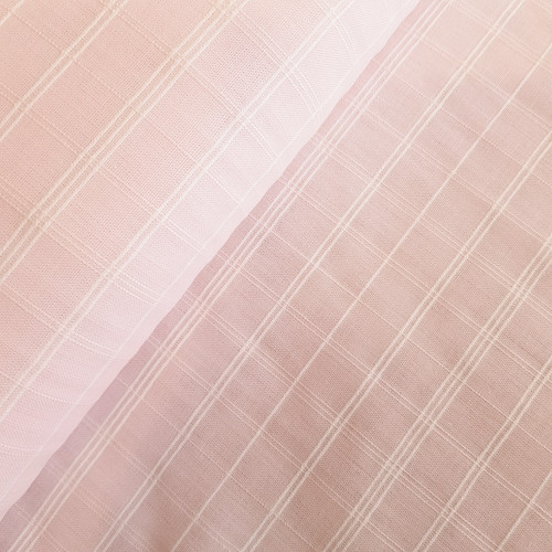 Cotton Check in Pink Ice