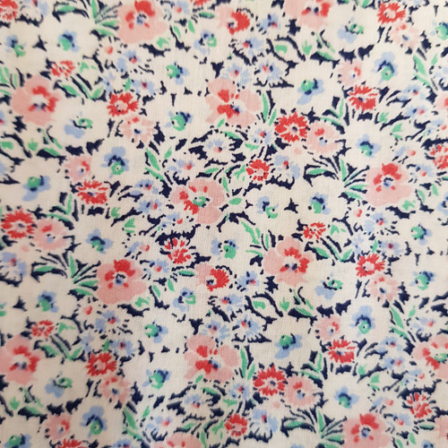 Forties Floral Cotton Lawn in Pink
