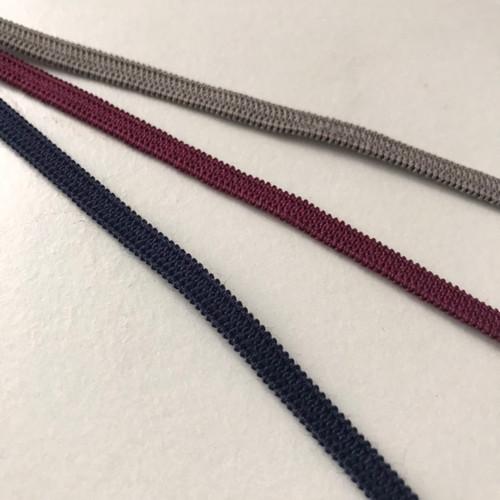 Elastic - 0.5 cm wide - 1 metre piece - Burgundy