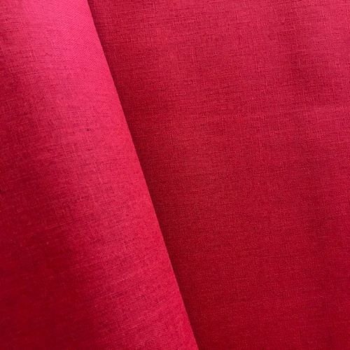 Cotton Linen by Makower in Red