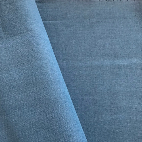 Cotton Linen by Makower in Mid Blue