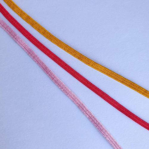 Elastic - 0.5 cm wide - 1 metre piece - Yellow