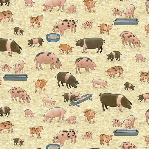 Village Like by Makower - Pigs