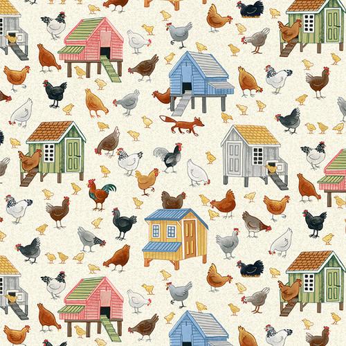 Village Life by Makower - Chickens