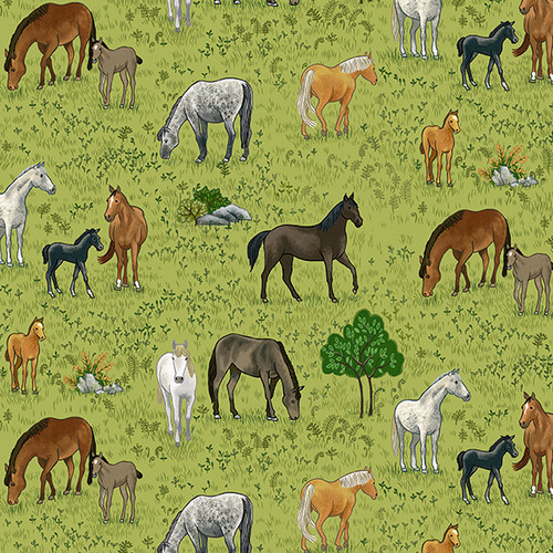 Village Life by Makower - Horses