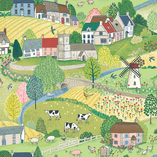 Village Life by Makower - The Village