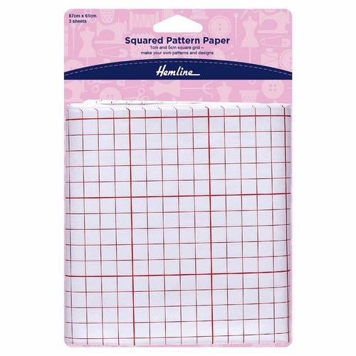 Hemline square grid paper