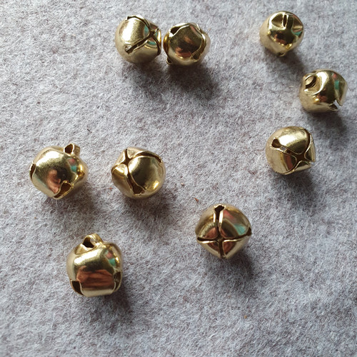 Jingle Bell 12mm in Gold