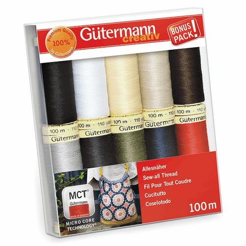 Gutermann 10 Pack Thread Set- Essentials