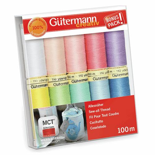 Gutermann 10 Pack Thread Set- Pastels
