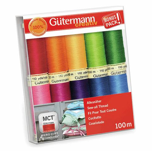 Gutermann 10 Pack Thread Set- Brights