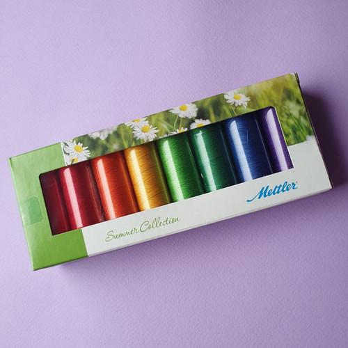 Mettler  8 Pack Cotton Thread Set- Summer Brights