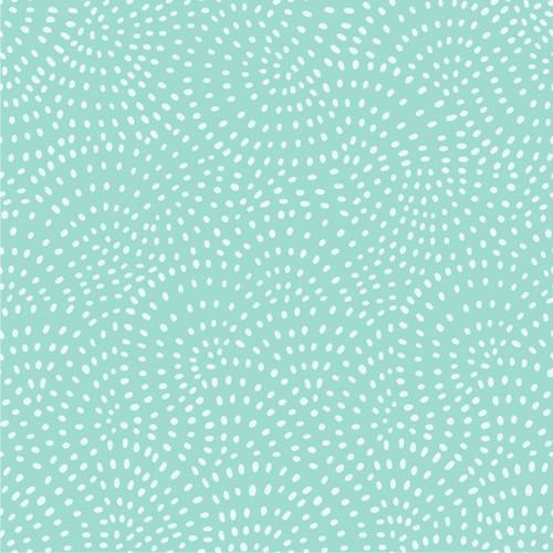 Twist Spot Cotton Fabric in Mint