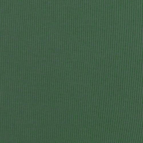 Tubular Cotton Ribbing in Pine Green