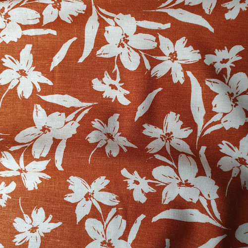 Wildflower Linen Viscose in Cinnamon