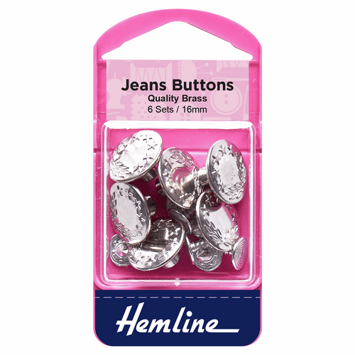 Jeans Buttons 16mm in Silver