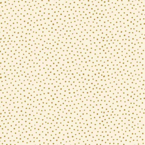 Snowball Spots in Metallic Gold Cotton Fabric