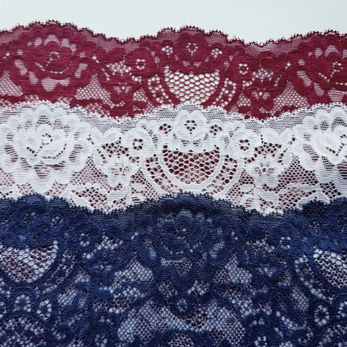 Scallop Stretch Lace- Various Colours
