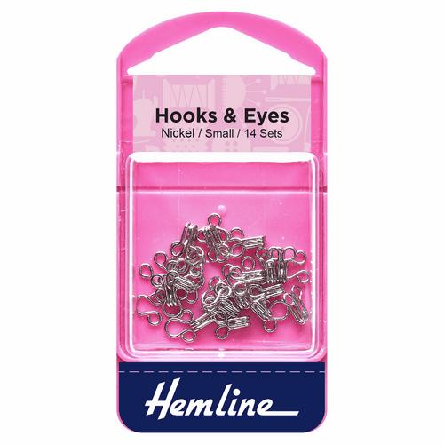 Nickel Hook & Eyes- Small