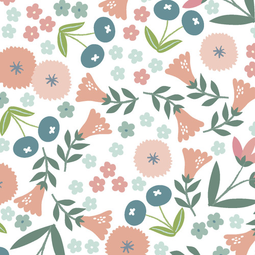 Fabric Editions - Spring Bunny - Spring Flowers